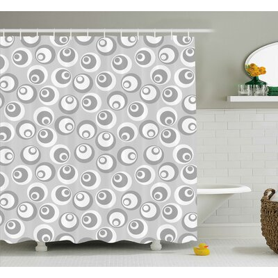 Shyanne Abstract Art Modern Shower Curtain Size: 69