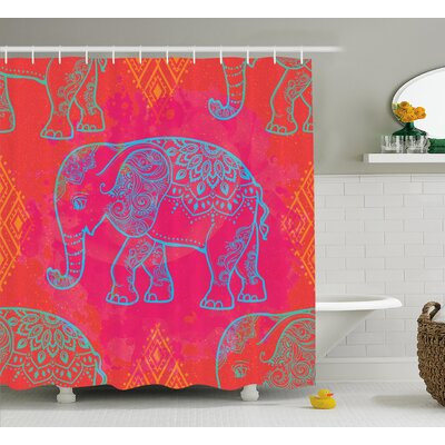 Alep Indian Authentic Decor Shower Curtain Size: 69 W x 75 L