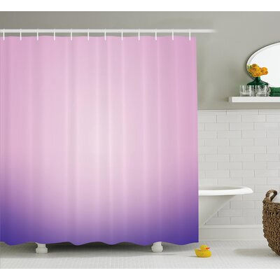 Fred Pink and Purple Ombre Shower Curtain Size: 69 W x 70 L