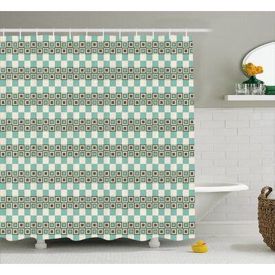 Baltes Unusual Grid Squares Shower Curtain Size: 69 W x 70 L