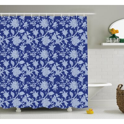 Barr Middle Eastern Flowers Shower Curtain Size: 69 W x 75 L