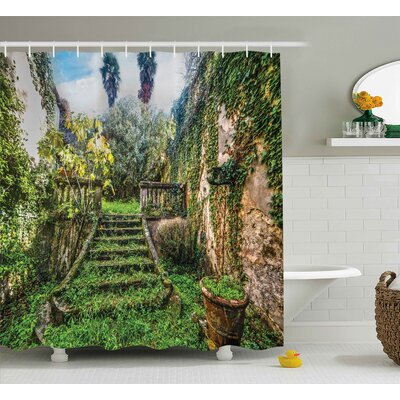 Nature Floral Ivy Fairy Theme Shower Curtain Size: 69 W x 84 L