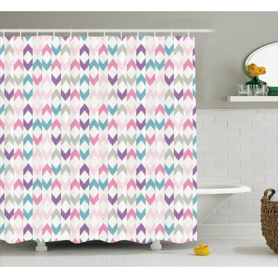 Adonis Eastern Chevron Boho Shower Curtain Size: 69 W x 70 L
