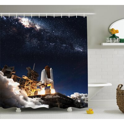 Solar Adventure Shower Curtain Size: 69 W x 75 L
