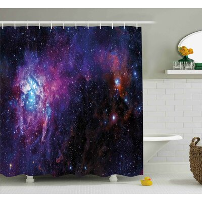 Mother Baby Nebula View Shower Curtain Size: 69 W x 84 L