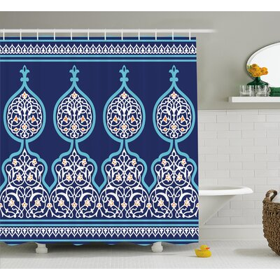 Artvin Mystic Oriental Decor Shower Curtain Size: 69 W x 84 L