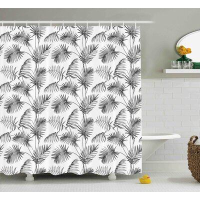 Applecroft Palm Leaf Botanic Island Shower Curtain Size: 69 W x 75 L