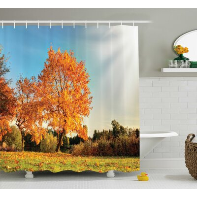 Bleeker Decor Maple Tree Autumn Shower Curtain Size: 69 W x 75 L