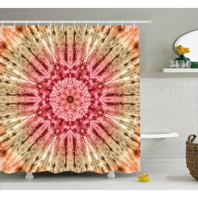 Circle Batik with Spectral Decor Shower Curtain Size: 69 H x 84 W