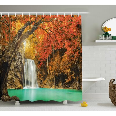 Clovis Majestic Waterfall Decor Shower Curtain Size: 69 H x 75 W