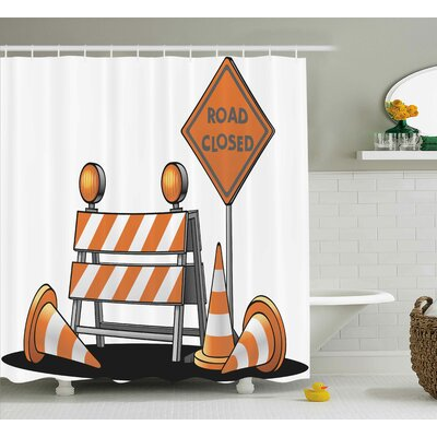 Logo Decor Shower Curtain Size: 69 H x 70 W