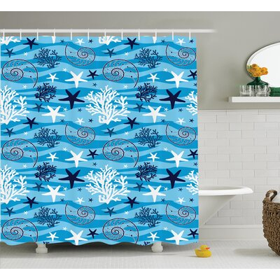 Scallop Shower Curtain Size: 69 H x 70 W