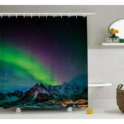 Wild Night Shower Curtain Size: 69 H x 84 W