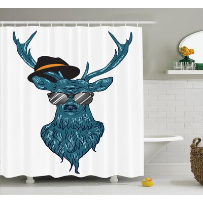 Hipster Shower Curtain Size: 69 H x 75 W