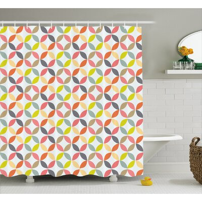 Fairlee Fabric Decor Shower Curtain Size: 69 H x 84 W