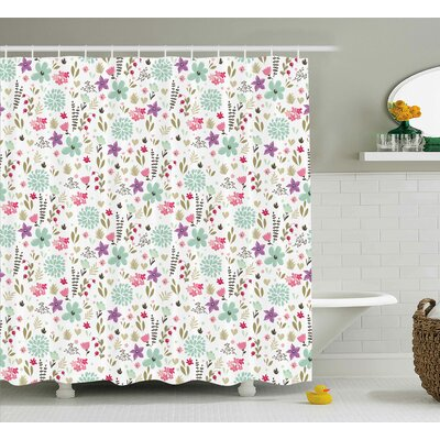 Earlene Elegance Shower Curtain Size: 69 H x 70 W