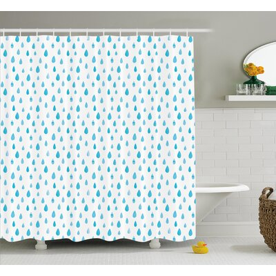 Rain Drop Decor Shower Curtain Size: 69 H x 70 W