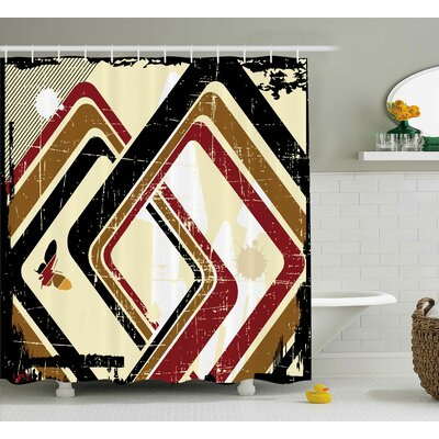 Rhombus Shower Curtain Size: 69 H x 75 W