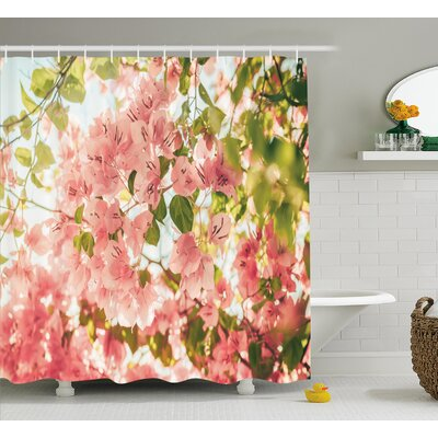 Spring Shower Curtain Size: 69 H x 75 W