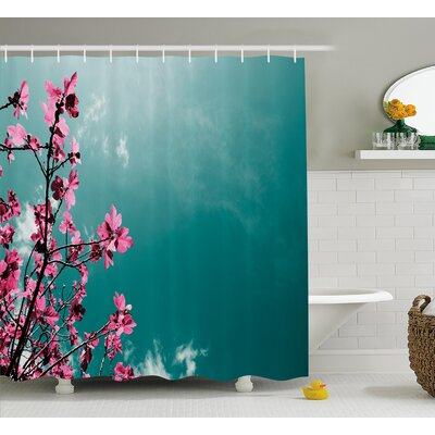 Fig Tree Shower Curtain Size: 69 H x 84 W