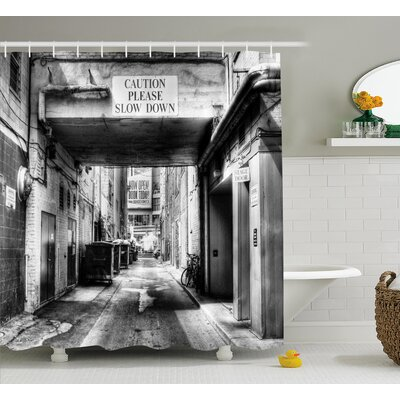 Slow Down Shower Curtain Size: 69 H x 84 W