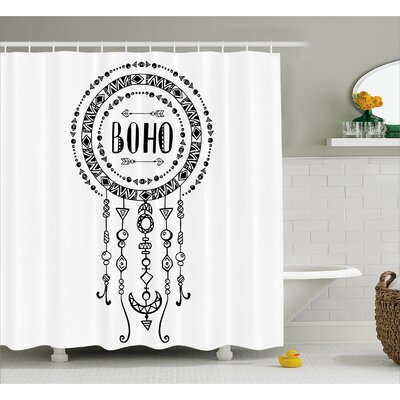 BoHo Decor Shower Curtain Size: 69