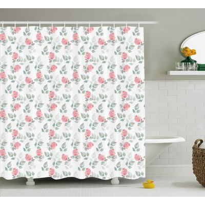 Menthe Shower Curtain Size: 69 H x 75 W