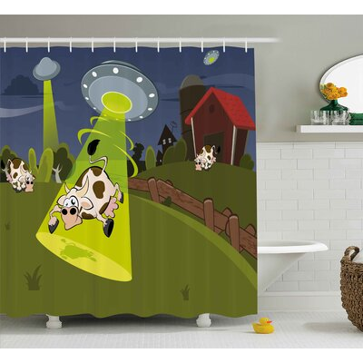 Farm Warehouse Shower Curtain Size: 69 H x 70 W