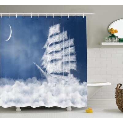 Nautical Decor Shower Curtain Size: 69 H x 84 W