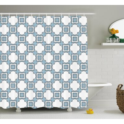 Fabric geometric  Decor Shower Curtain Size: 69 H x 75 W