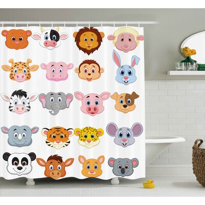 Animals Shower Curtain Size: 69 H x 84 W