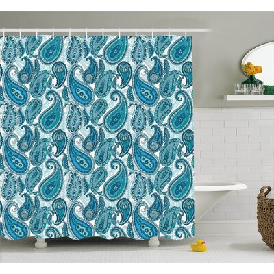 Floral Decor Shower Curtain Size: 69 H x 75 W