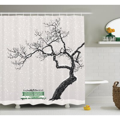 Clovis Winter Scenery Decor Shower Curtain Size: 69 H x 84 W
