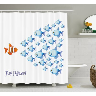 Think Different Decor Shower Curtain Size: 69 H x 75 W