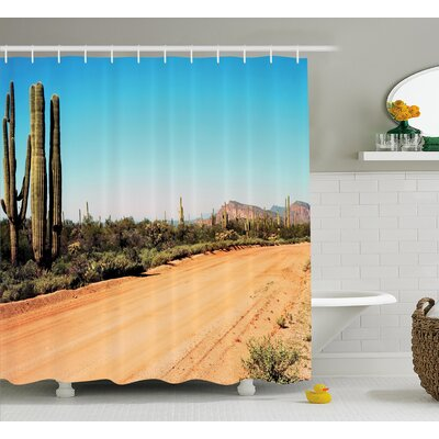 Earth Path Decor Shower Curtain Size: 69 H x 84 W