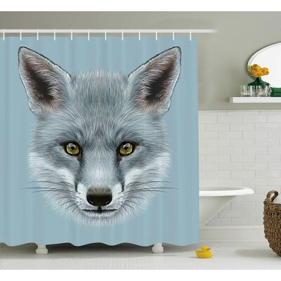 Fox Portrait Shower Curtain Size: 69 H x 84 W
