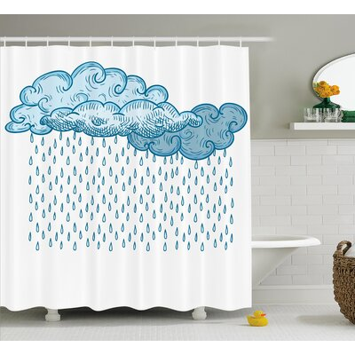 Rain Decor Shower Curtain Size: 69 H x 75 W