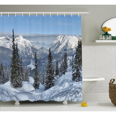 Winter Landscape Decor Shower Curtain Size: 69 H x 70 W