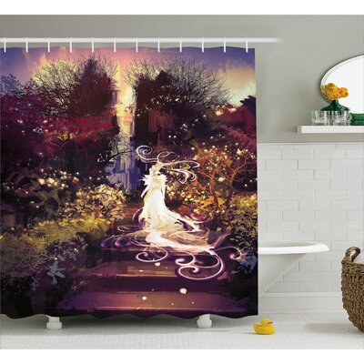 Goddess Decor Shower Curtain Size: 69 H x 75 W