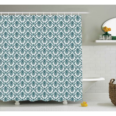Toned Floral Shower Curtain Size: 69 H x 75 W