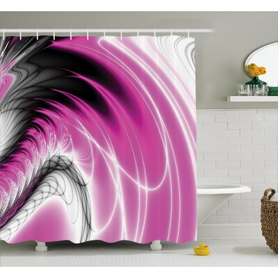 Energy Flows Shower Curtain Size: 69 H x 70 W