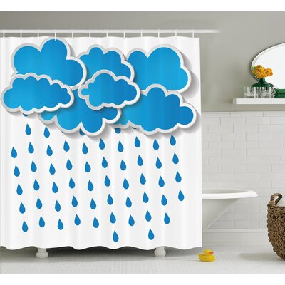 Convective Cloud Group Decor Shower Curtain Size: 69 H x 84 W