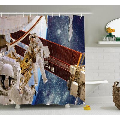 International Station Scenery Decor Shower Curtain Size: 69 H x 75 W