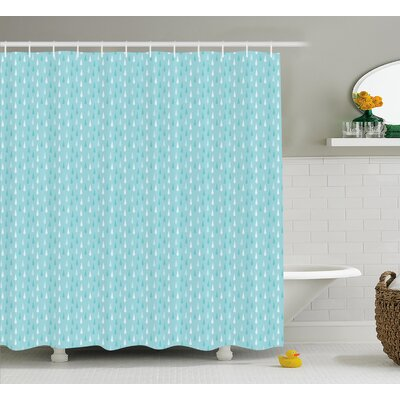 Heavy rain Decor Shower Curtain Size: 69 H x 70 W