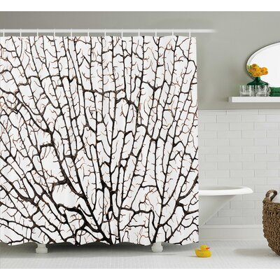 Forest Decor Shower Curtain Size: 69 H x 75 W