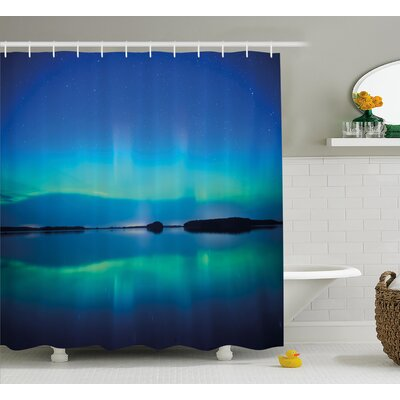 Lake Reflections Shower Curtain Size: 69 H x 70 W