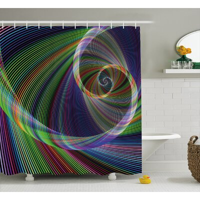 Energy Motion Swirl Shower Curtain Size: 69 H x 75 W