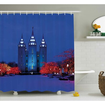 Snowy Shower Curtain Size: 69 H x 70 W