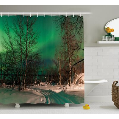 Leafless Trees Shower Curtain Size: 69 H x 75 W