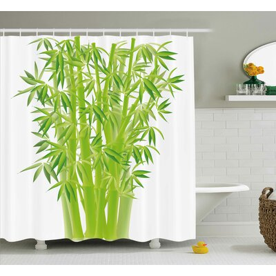 Bamboo Stems Shower Curtain Size: 69 H x 70 W